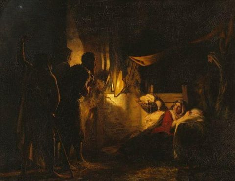 Carl Bloch, Adoration of the Shepherds, 1882 Nationalmuseum, Bodil Karlsson, Public Domain